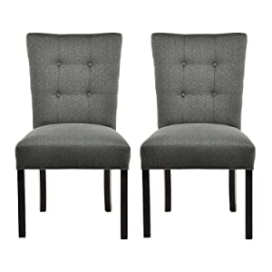 Sole Designs La Mode Collection Of Button Tufted Fanback Dining Chairs