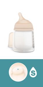 Suavinex Zero-Zero Biberón anticólicos +0 meses, 180 ml - Tetina ...