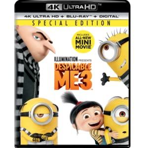 Illumination, presents, all, 3-movie, collection, Despicable Me, Villain, 4k, family, kids