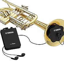 SILENT Brass system in a trumpet