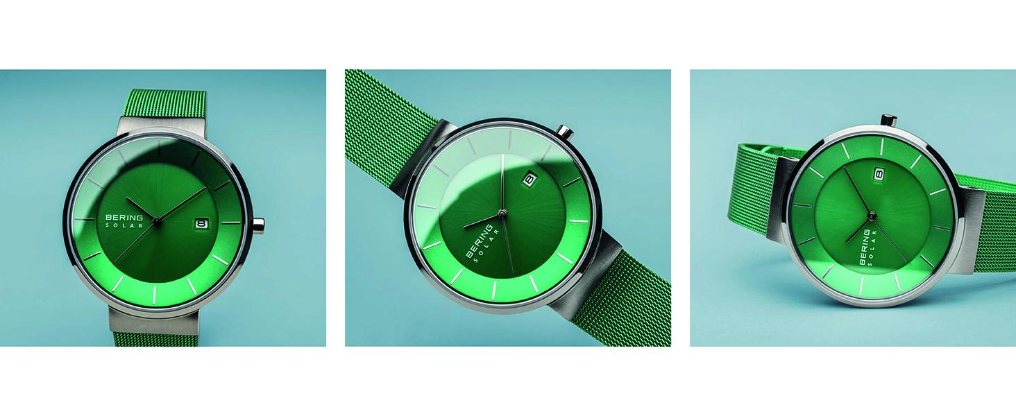 Bering Orologio in Vetro Zaffiro Slim Unisex Solar Skagen Design Classico Orologio Milanaise