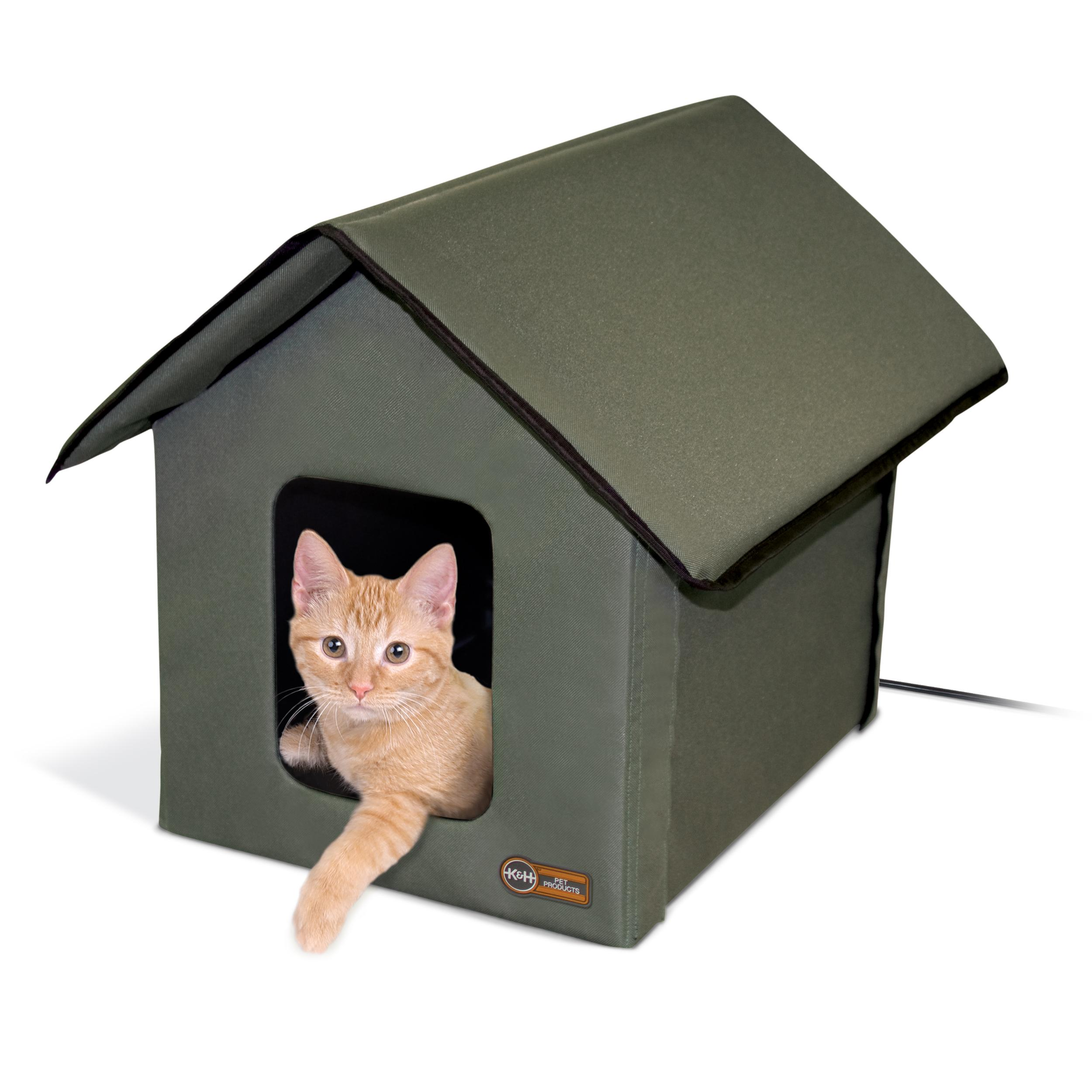 Amazon Com K Amp H Pet Products Outdoor Heated Multi Kitty A