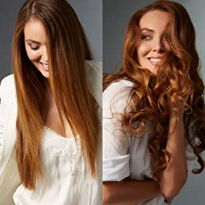 style options variety wavy curl sleek smooth straight flat iron