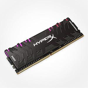 HyperX Predator HX432C16PB3AK4/64 - Kit de Memoria RAM (DDR4 64GB, 4x16GB, 3200MHz CL16 DIMM XMP RGB)