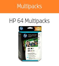 HP 64 Black & Tri-color,  40 sheets photo paper (4x6-inch)