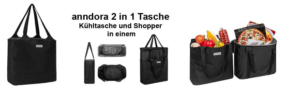 anndora 2 in 1 shopper und Kühltasche