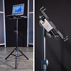 quik, lok, quick, lock, laptop, stand, desk, holder, tripod, portable, macbook, standup desk