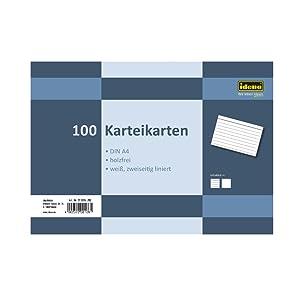 100 Karteikarten A4 liniert