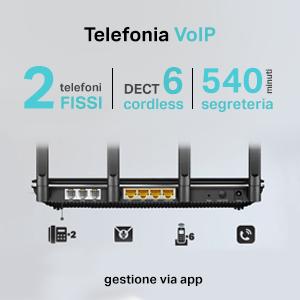 TP-LINK V35B Archer VR2800v VoIP Modem Router EVDSL V35B FTTS fino a 300Mbps Wi-Fi Dual-Band AC2800 VDSL FTTC non supporta ADSL Versione Tedesca Supporta VDSL in Italia