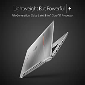 ASUS ROG STRIX GL702VM-DB74 15.6-inch G-SYNC VR Ready Core i7 2.6GHz Thin and Light Gaming Laptop
