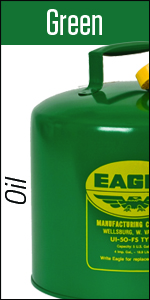 Green Safety Can Eagle steel oil fuel funnel