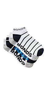 Bonds, underwear, socks, women's socks, sports socks, low cut, no show, crew sock, active sock