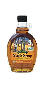 Coombs Family Farms USDA Organic Pure Maple Syrup Amber Color Rich Taste