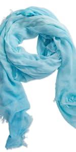 Tickled Pink Aqua summer scarf