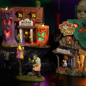 Department 56 Snow Village Halloween Themed Decor