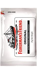 Fishermans Friend Mint Lozenge Soothe Throat Strong Medicate