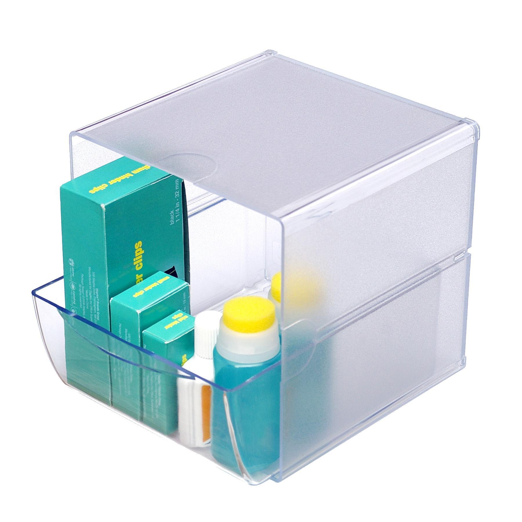 Amazon.com : Deflecto Stackable Cube Organizer, Desk And