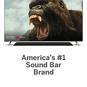 """TV with King Kong pictured """"America's #1 Sound Bar Brand"""""""