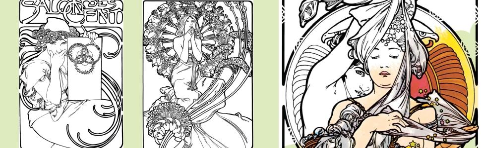 - Creative Haven Art Nouveau Designs Coloring Book (Creative Haven Coloring  Books): Mucha Jr., Alphonse Maria, Sibbett Jr., Ed: 9780486781891:  Amazon.com: Books