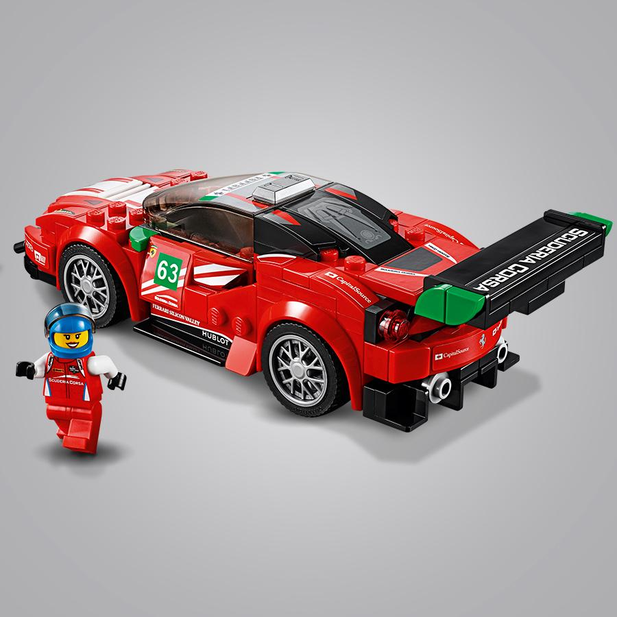 lego speed champions ferrari 488 gt3 scuderia corsa 75886 no name giochi e. Black Bedroom Furniture Sets. Home Design Ideas