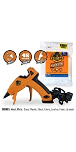 gorilla hot glue gun mini size glue sticks combo