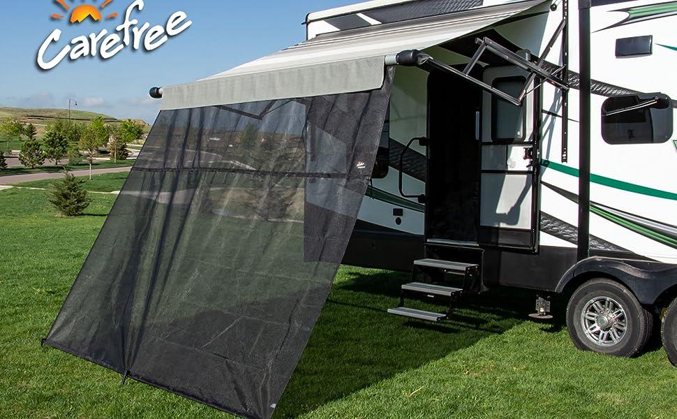 Mountains, Camping, RV Awning, camper, shade, sun,