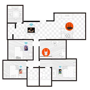 Wi-Fi Dead Zones Wi-Fi Booster Wi-Fi Extender Homeplug Powerline Smart Home