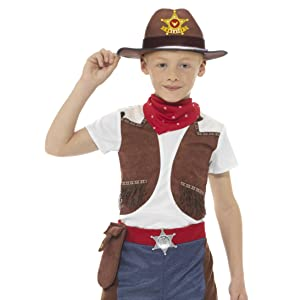 Smiffys-21481S Disfraz de Vaquero Tejano, con Sombrero, Corbata de ...