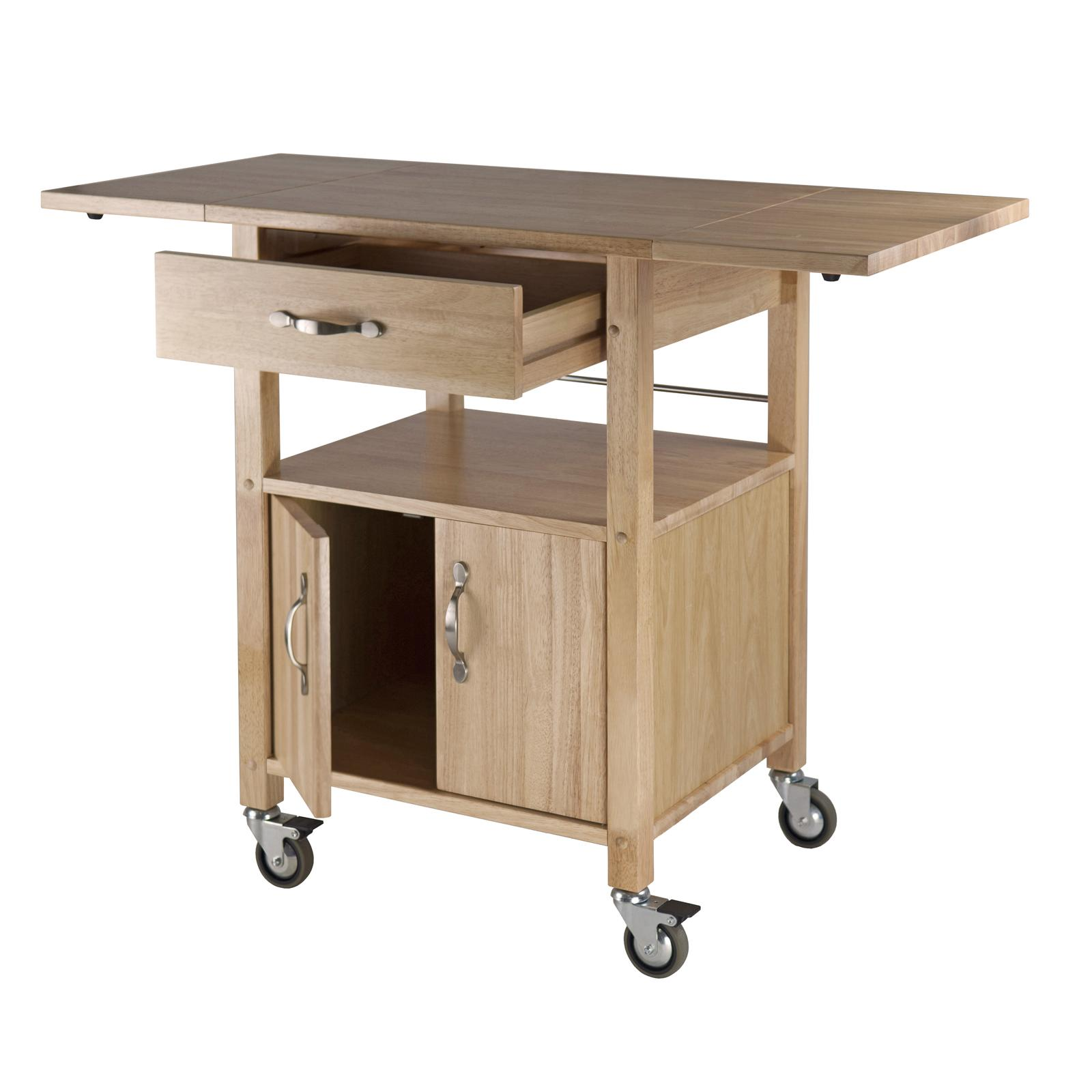 winsome wood drop leaf kitchen cart bar serving carts. Black Bedroom Furniture Sets. Home Design Ideas
