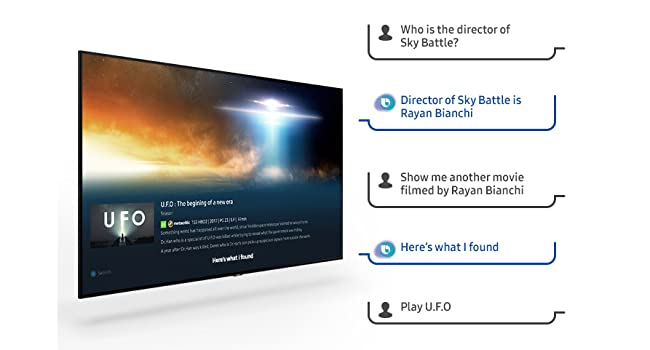 Example of questions you can ask Bixby on TV