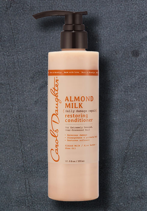 Almond Milk, hair, haircare, shampoo, conditioner, for hair, coily hair, thick hair, restore