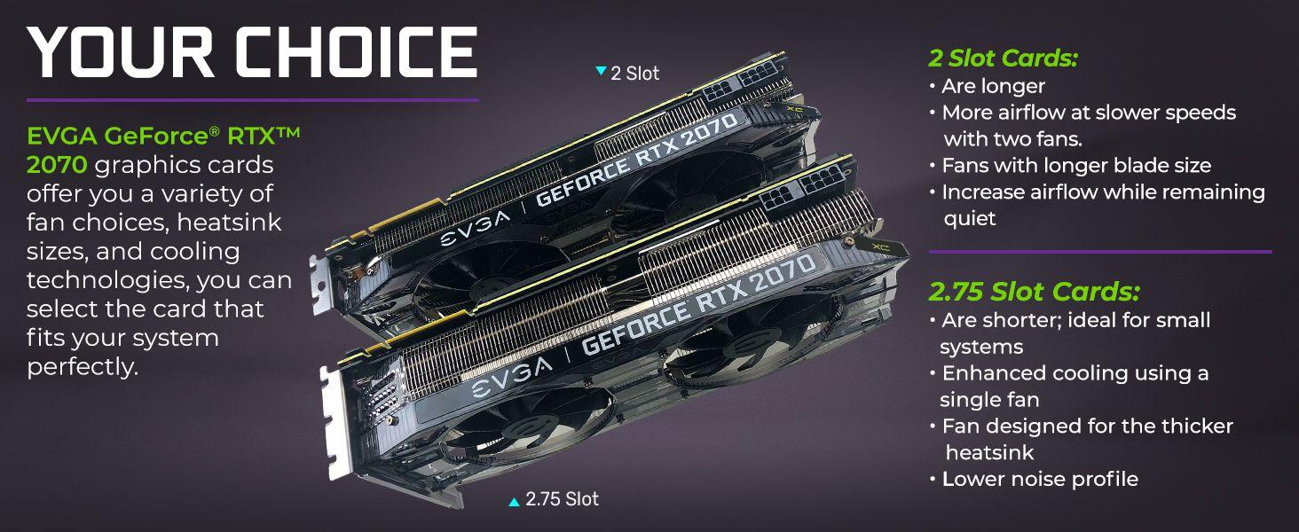 EVGA GeForce RTX 2070 Black GAMING,8GB GDDR6, Dual HDB Fans Graphics Card  08G-P4-1071-KR