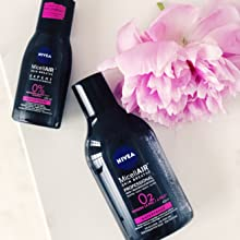 NIVEA MicellAIR Skin Breathe Agua Micelar Piel Seca/Sensible (1 x 400 ml), agua micelar desmaquillante, limpieza facial, desmaquillador de ojos, ...