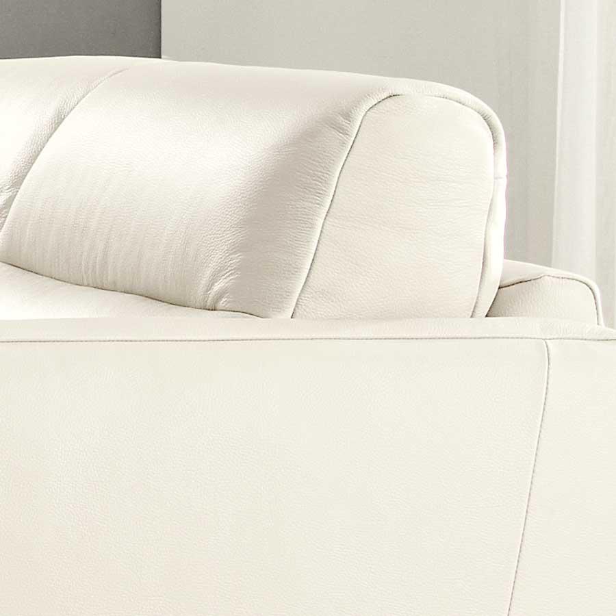 Natuzzi Editions Isacco Cream Fabric Stationary Chair