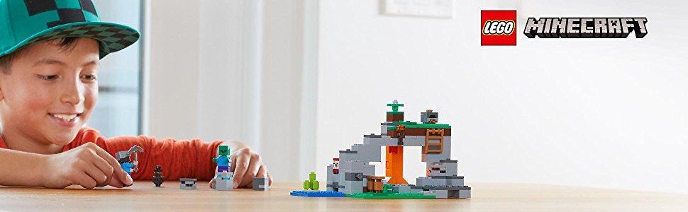 LEGO Minecraft - La Cueva de los Zombis, Juguete de