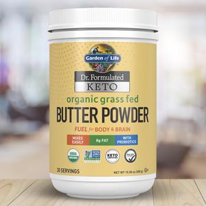 garden of life grass fed organic butter powder
