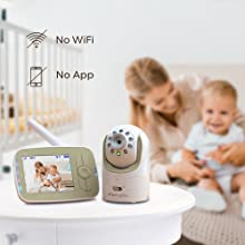 baby monitor, video monitor, baby camera, baby video monitor, non-wifi monitor, unhackable