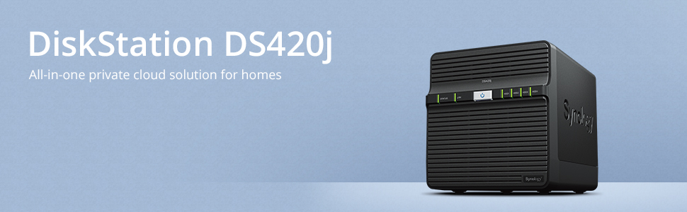 Synology DiskStation DS420j, all-in-one private cloud solution for homes
