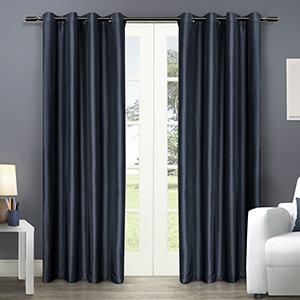 navy curtains, blue curtains, curtain rods, curtain rod, nautica, nautical decor,  blackout curtains