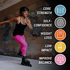 benefits of skating, benefits of inline skating, core strength, weight loss, low impact exercise