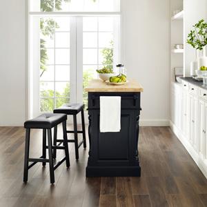 Crosley Butcher Block Hardwood Kitchen Island : Amazon.com - Crosley Furniture Kitchen Island with Butcher Block Top - White - Kitchen Islands ...