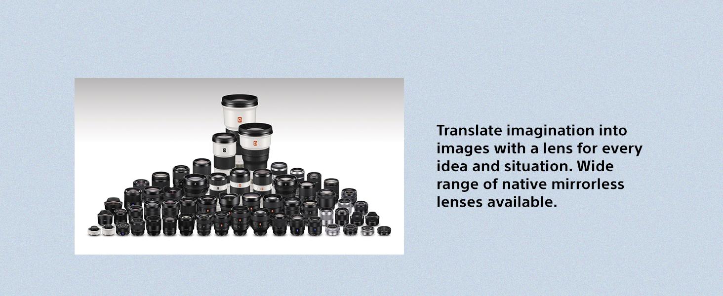 Wide Range of Lenses