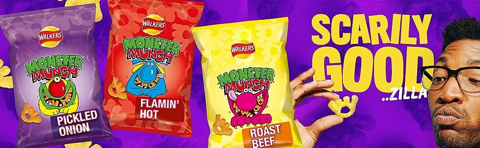 walkers monster munch snacks crisps