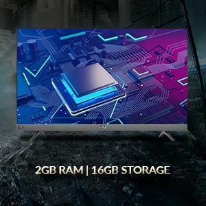2GB RAM, 16GB Storage