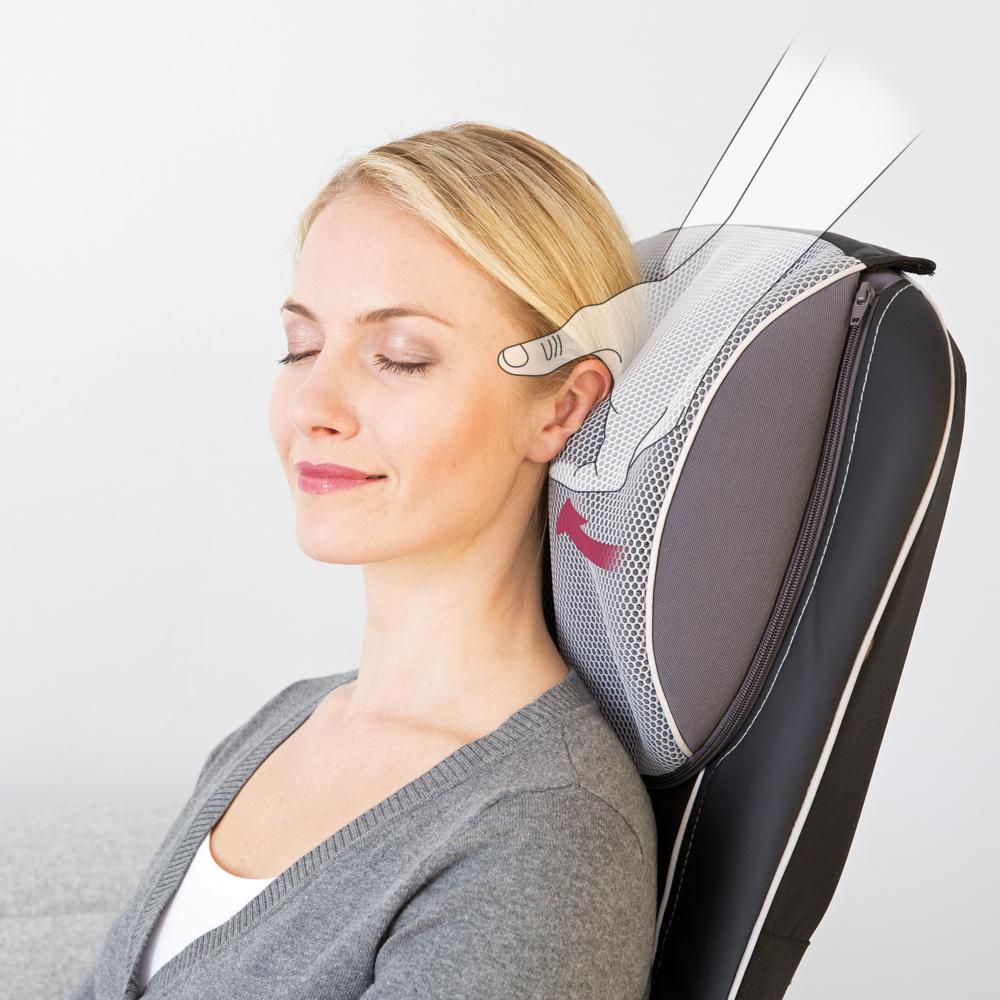beurer mg 295 massagesitzauflage 4 shiatsu massagek pfe 3 massagebereiche 2 geschwindigkeiten. Black Bedroom Furniture Sets. Home Design Ideas
