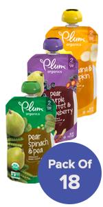 plum organics, organic baby food, organic baby food pouches, baby food pouches, stage 2 baby food