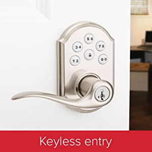 kwikset, deadbolt. door lock. electronic lock, keys, smartkey, office door