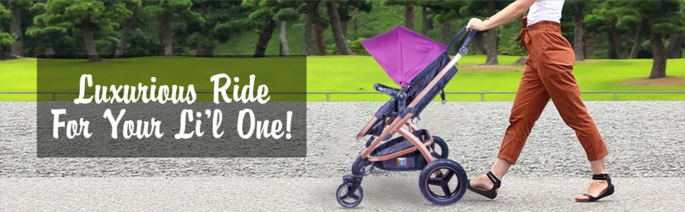 Tector Baby Strollers E89 (Purple)