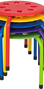 Stacking Stool SetStackable Nesting Stools/Chairs for Kids - Flexible Seating