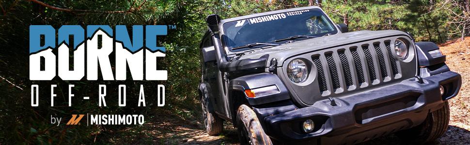borne by mishimoto jeep wrangler snorkel gladiator